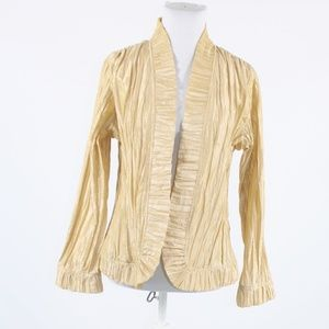 Beige wrinkled texture CHICO'S  clip jacket M